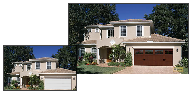 Use our Design Tools to see how a new Clopay garage door can improve the curb appeal of your home.
